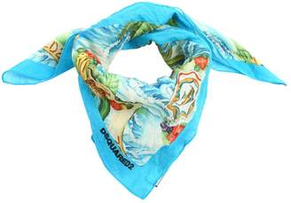 DSQUARED2 Hawaii Printed Cotton Scarf