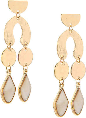 Crown Vintage Geo Hammered Drop Earrings - Women's