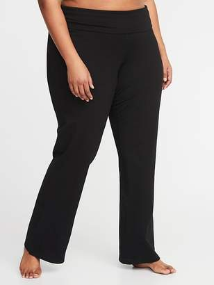f868b9723fa Old Navy Roll-Over 4-Way-Stretch Plus-Size Yoga Pants