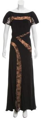 Elie Saab Lace Cutout Evening Dress