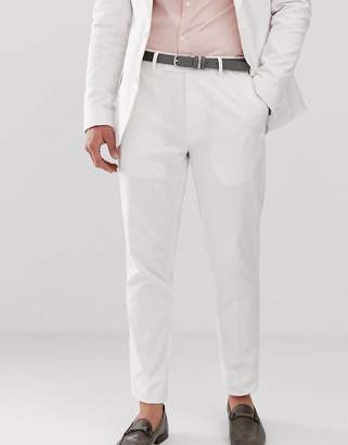 Asos DESIGN wedding skinny suit pants in stretch cotton in white