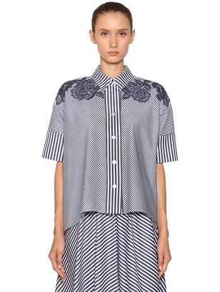 Antonio Marras Striped Cotton Poplin Shirt