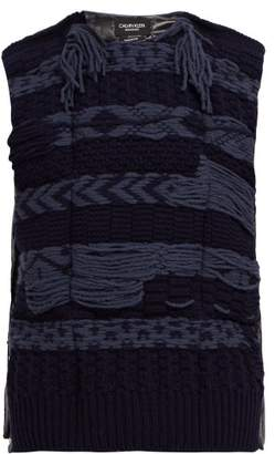 Calvin Klein Wool Panelled Technical Gilet - Mens - Navy
