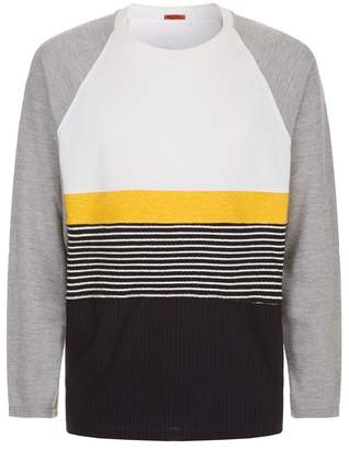 Barena Striped Patchwork Sweatshirt