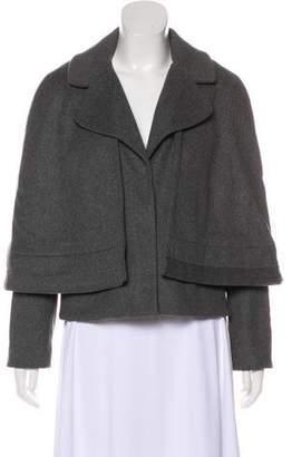 Tory Burch Wool Cape Overlay Coat