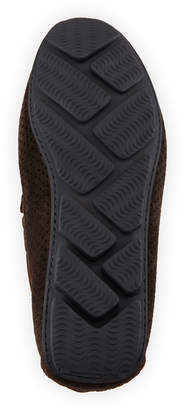 Neiman Marcus Hossegor Perforated Suede Driver