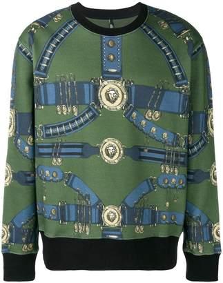 Versus Heritage Belt print sweatshirt
