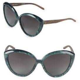 Linda Farrow 64MM Butterfly Sunglasses