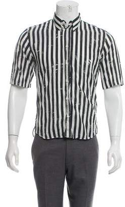 Marc Jacobs Button-Down Collar Striped Shirt