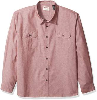 Wrangler Men's Big-Tall Authentics Big & Tall Long Sleeve Classic Woven Shirt