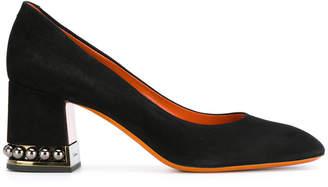 Santoni embellished heel pumps