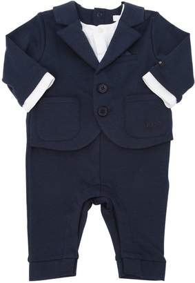 at LUISAVIAROMA · HUGO BOSS Cotton Jersey Suit Romper 3078034a1