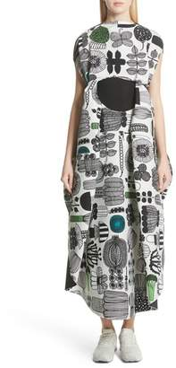 Junya Watanabe Vegetable Print Shift Dress