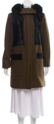 Zac Posen Fox Fur Short Coat
