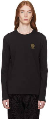Versace Underwear Black Long Sleeve Small Medusa T-Shirt