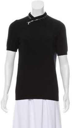 Marc Jacobs Cashmere Blend Short Sleeve Top