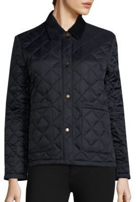 Barbour Summer Cropped Quilted Jacket $229 thestylecure.com