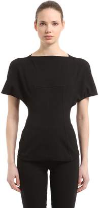 Rick Owens Judith Cotton Blend Grosgrain Top
