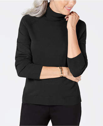 Karen Scott Petite Luxsoft Turtleneck Sweater