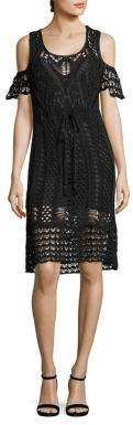 See by Chloe Cold-Shoulder Crochet Cotton Dress