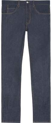 Gucci Stretch denim slim pant with tiger