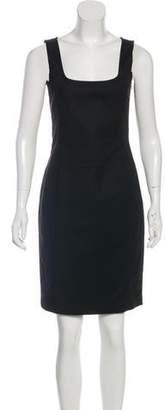 Halston Scoop Neck Knee-Length Dress