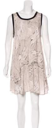 Enza Costa Sleeveless Printed Dress