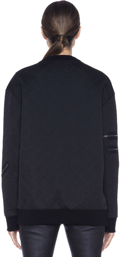 3.1 Phillip Lim Loose Fit Crewneck Pullover in Black