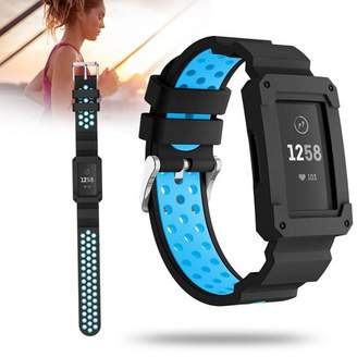 Fitbit EEEkit Wristband For Charge 3, Silicone Sport Rugged Replacement Band With Shockproof Protector Case Compatible with Charge 3