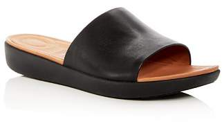 FitFlop Women's Sola Leather Platform Slide Sandals