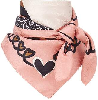 Fendi logo square foulard scarf