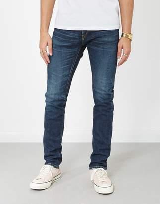 Edwin ED-80 Slim Tapered Nihon Menpu Japan Selvage Stretch Fabric Jeans Dark Blue