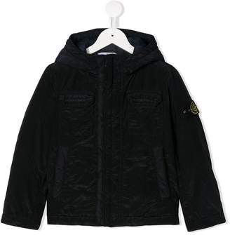 Stone Island Junior hooded shell jacket