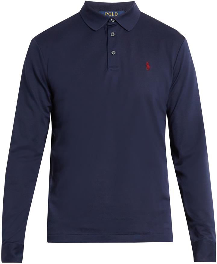 Polo Ralph Lauren Long Sleeved Cotton Piqu Polo Shirt
