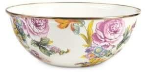 Mackenzie Childs Flower Market Medium White Everyday Bowl
