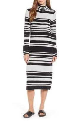Lou & Grey Striped Turtleneck Maxi Sweater Dress