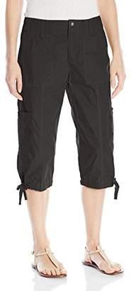 Calvin Klein Women's Woven Cargo Crop Pant With Zipper Closing