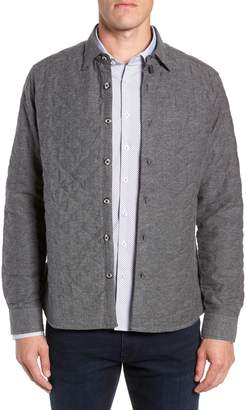 Stone Rose Trim Fit Quilted Shirt Jacket