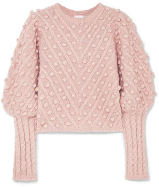 Zimmermann Unbridled Cable-knit Sweater - Pink