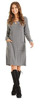 SONJA BETRO Amazon Brand Women's Stripe Knit Pocket Accent Dress//