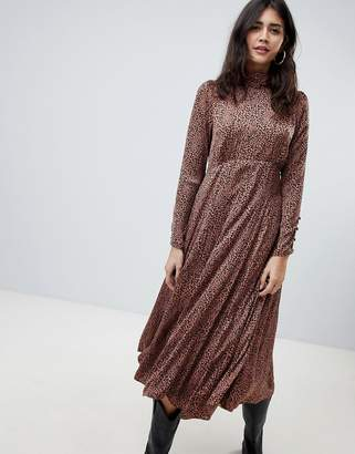 Free People Loveless Midi Dress In Animal Print