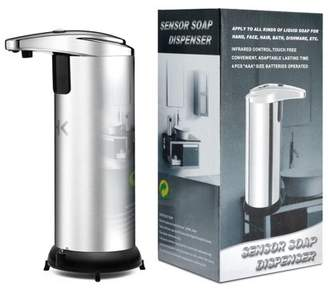 HK Automatic Touchless Soap Dispenser No Touch Liquid Sensor Stainless Steel Dispenser w/ Base 250ml