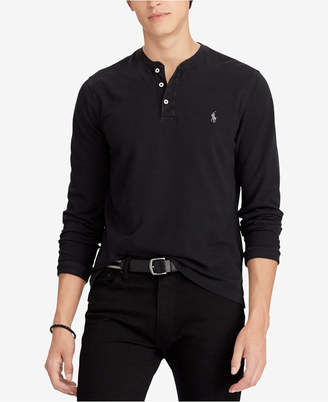 Polo Ralph Lauren Men's Big & Tall Featherweight Mesh Cotton Henley Shirt