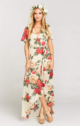 Show Me Your Mumu Sophia Wrap Dress ~ Lady Rose Chiffon
