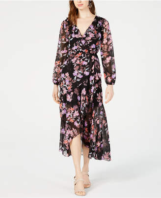 79e112f9db Bar III Floral-Print Wrap Dress