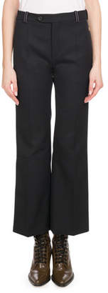 Chloé Ankle-Length Flare Wool Pants