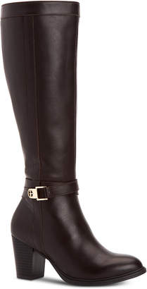 Giani Bernini Rozario Memory-Foam Wide-Calf Dress Boots, Women Shoes