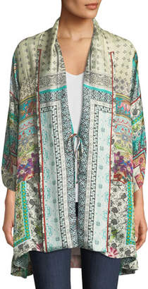 Johnny Was Samira Long Silk Kimono Jacket