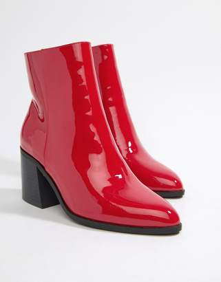 London Rebel Block Heel Ankle Boots
