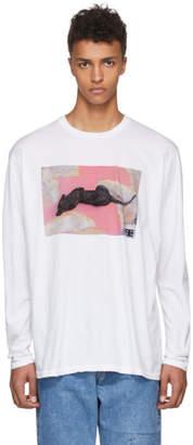 Baja East White Long Sleeve Tiger T-Shirt